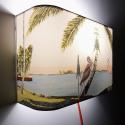 Applique ou lampe  de chevet murale Floride IBIS ET FLAMINGO