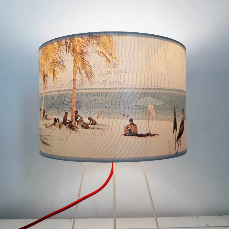 ABAT JOUR collection FLORIDE RECTO VERSO plage flamingo