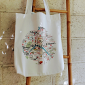 SAC TOTE BAG COTON RECYCLE PLAN DE PARIS