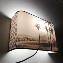 "Applique ou lampe  chevet murale motif ""IPANEMA SEPIA"""