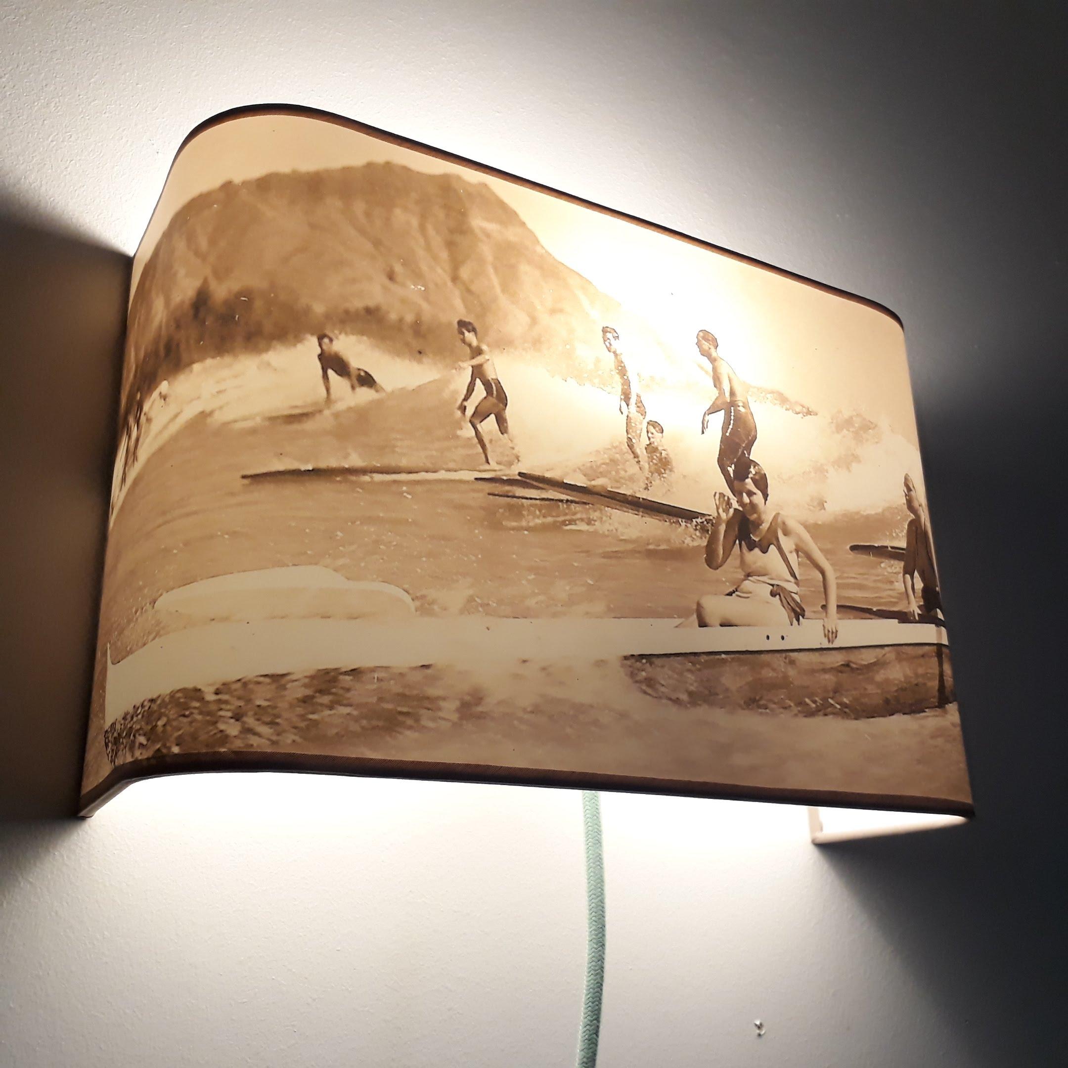 Applique Lampe Sepia Surf Chevet Ou Murale De N8wvm0n