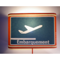 Applique rectangle embarquement boarding