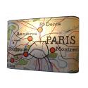 Applique murale  AFFICHE SCOLAIRE PARIS COLORé  geographie