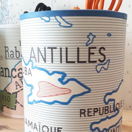Abat-jour carte motif carte scolaire Bretagne