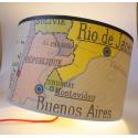 abat jour monde Amerique du sud  RIO carte geo affiche scolaire