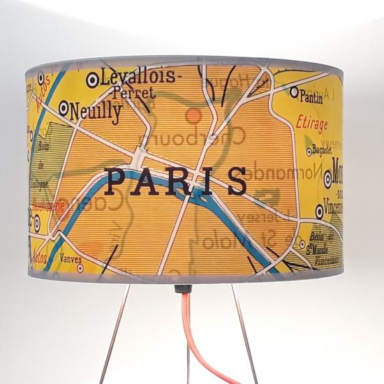 AUTOUR DU MONDE - Paris JAUNE - motif affiche scolaire