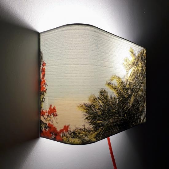 Applique ou lampe  de chevet murale Floride Sea and coconuts