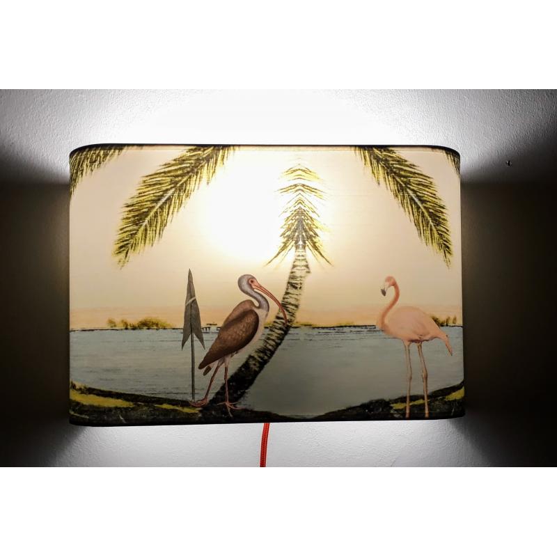 """Applique ou lampe  de chevet murale motif """"IPANEMA""""Photo de la plage"""