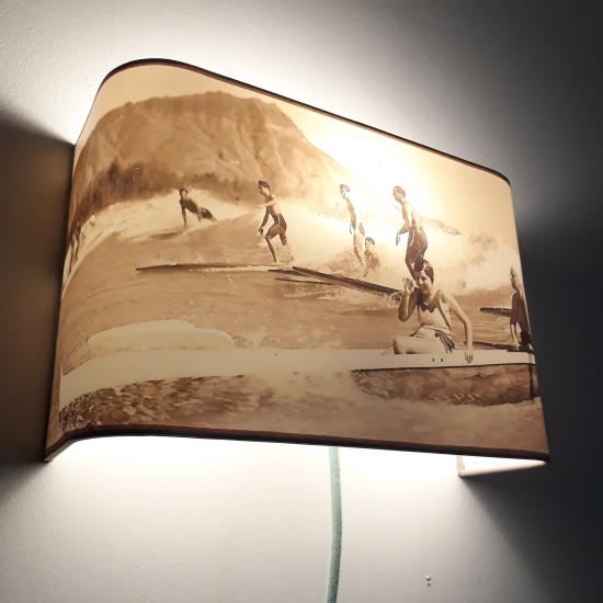 Applique ou lampe  de chevet murale  SURF SEPIA