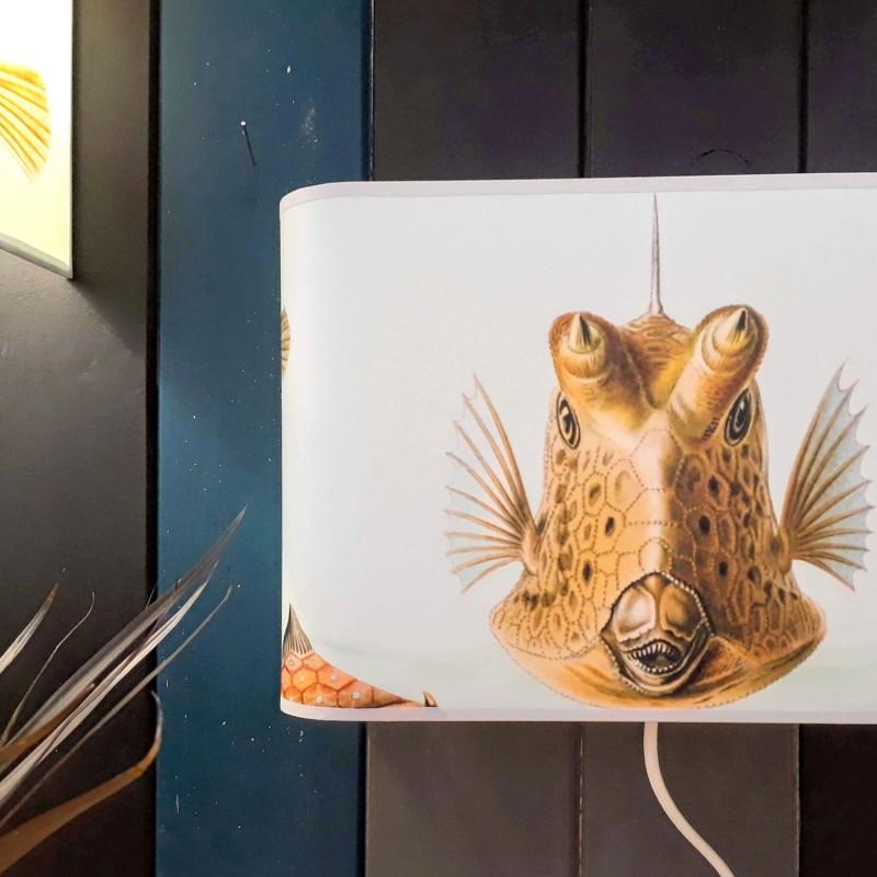 Applique ou lampe  de chevet murale cowfish