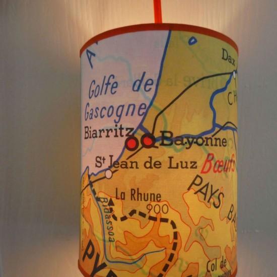 """Veilleuse baladeuse """"REGIONS FRANCAISES"""" COTE BASQUE JAUNE"""